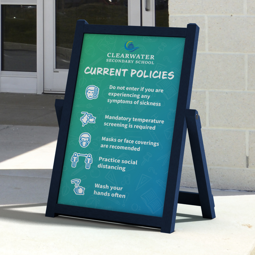 Full Graphic Easel Sign