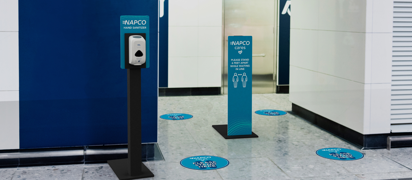 Floor Stickers with Full Panel Graphic Sign for critical messaging