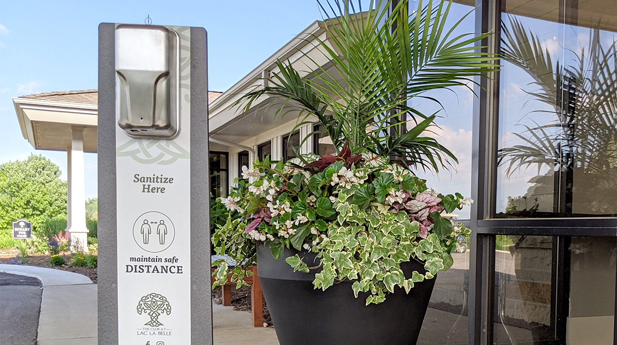 Superior Hand Sanitizer Display in front of entrance