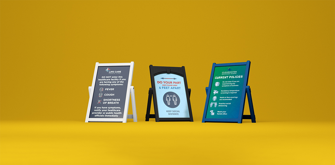 COVID signage | easel signs
