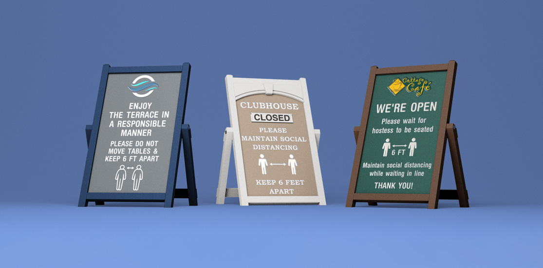 Easel COVID Signs for critical messaging during pandemic