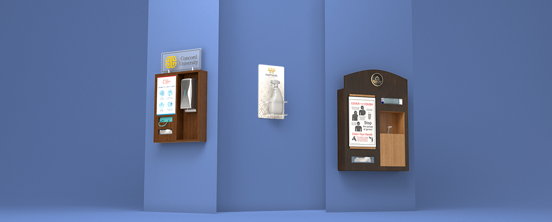 Wall and Counter Sanitizer Displays