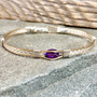 """This royal looking Amethyst makes a wonderful addition to anyones jewelry accessories. When Faux just won't do! This bracelet is shown and ready to ship in a true size 7"""" but is available in whatever size you need,  just make that choice in the CUSTOM tab."""