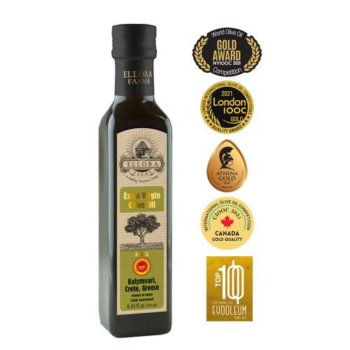Certified Single Estate Extra Virgin Olive Oil | Traceable via lot number | First Cold Press | Kosher OU | 8.45 oz Bottle