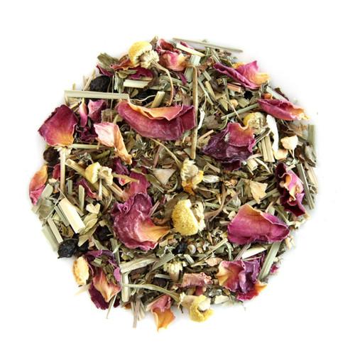 ORGANIC STRESS RELIEF TEA | Caffeine Free Herbal Infusion | Wellness Tea Collection | 1.5 oz. Jar