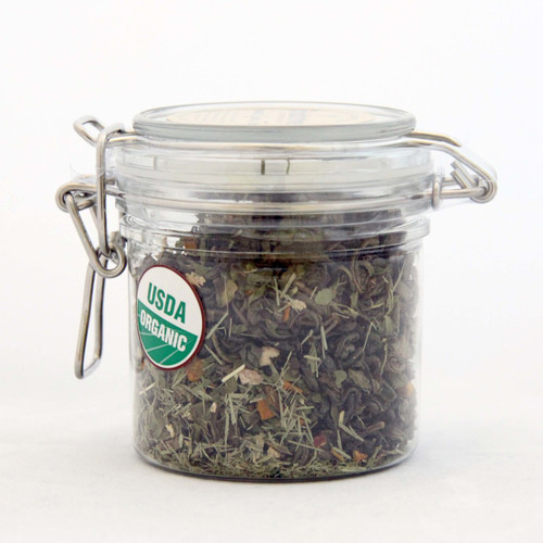 ORGANIC TURMERIC GREEN TEA | Whole leaf Green Tea with Turmeric root | Wellness Tea Collection | 2 oz. Jar