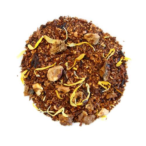 ORGANIC CARMALIZED PEAR TEA | Caffeine Free Herbal infusion with Rooibos, Honey bush, Pear and Apple | 2 oz. Jar