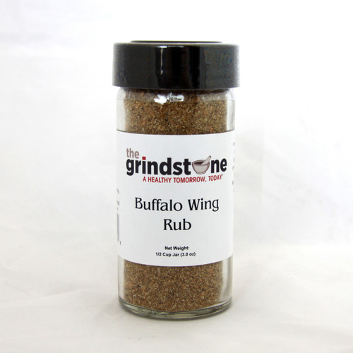 Buffalo Wing Rub, Glass Bottle with sifter, Non GMO, 1/2 cup, 3 oz