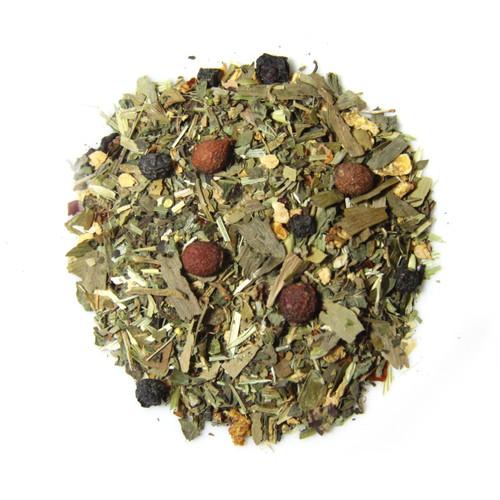 ORGANIC GRATEFUL HEART TEA | Caffeine Free Herbal Infusion | Wellness Tea Collection | 1 oz. Jar