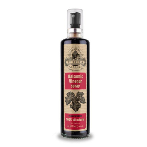 Pure Balsamic Vinegar in Glass Spray Bottle | Clog Free | Single Origin | Harvested in ancient Crete, Greece | 3.38 oz. Bottle | Single Pack