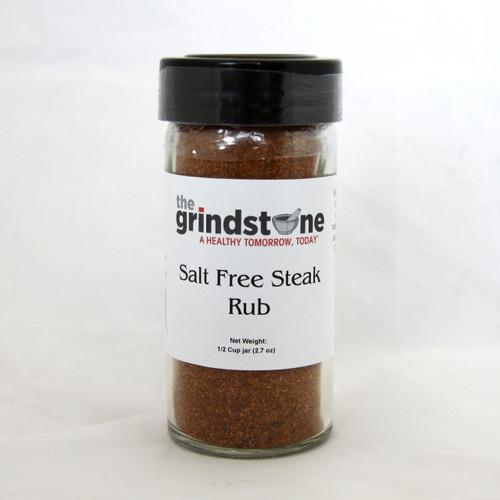 Salt Free Steak Rub, 2.7 oz. In Glass Bottle, Non GMO