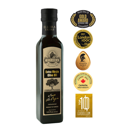 Miller's Reserve | Traceable Extra Virgin Olive Oil | First Cold Press | Single Origin Crete, Greece | 8.45oz | Pack of 2