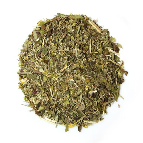 ORGANIC HAPPY TUMMY TEA | Caffeine Free Herbal Infusion | Wellness Tea Collection | 1 oz. Jar
