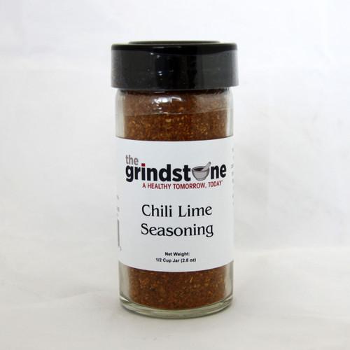 Chili Lime Seasoning, 2.8 oz. In Glass Bottle, Non GMO