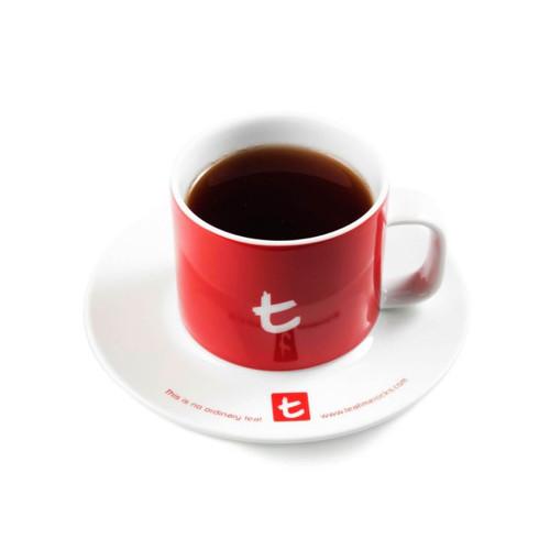 t-Mug & Saucer, Porcelain, 250 ml Cherry Red