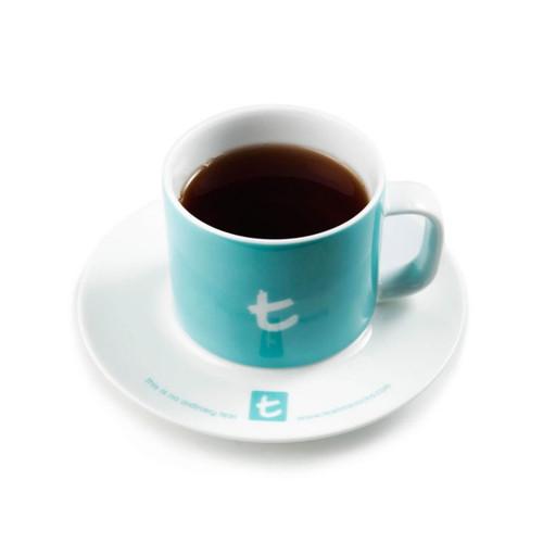 t-Mug & Saucer, Porcelain, 250 ml Sky Blue