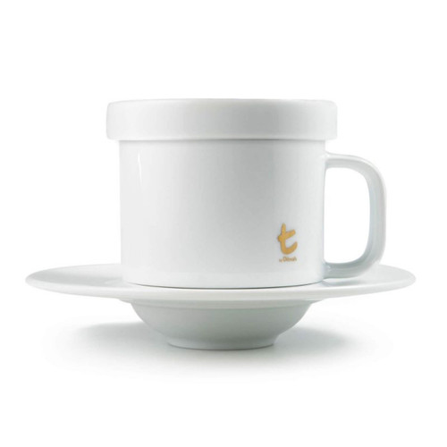 t-Cup | White Porcelain With Lid | 250 ml