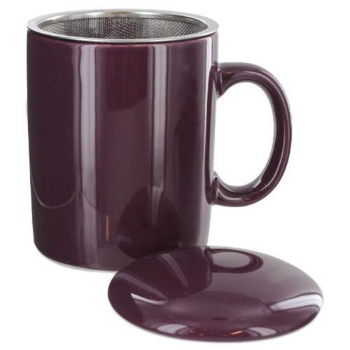 Infuser Tea Mug With Lid, 11 oz Purple