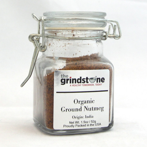 Organic Ground Nutmeg, Non GMO, 1.5 Oz
