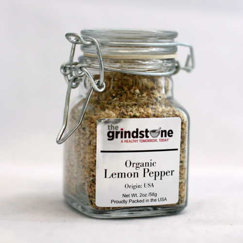 Organic Lemon Pepper, 2 oz. Glass Jar