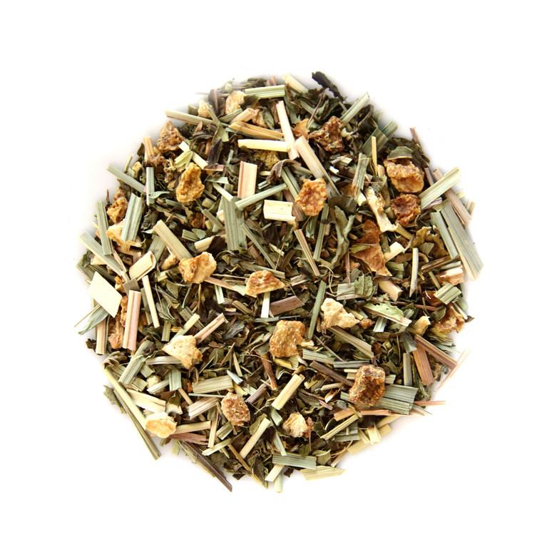 ORGANIC GINGER LEMONGRASS  TEA   Caffeine Free Herbal Tea Infusion   Wellness Tea Collection  1.5 oz. Jar