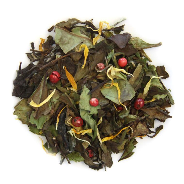 ORGANIC WHITE BUTTERSCOTCH TEA | White Peony Tea | Dessert Tea Collection | 1 Oz Jar