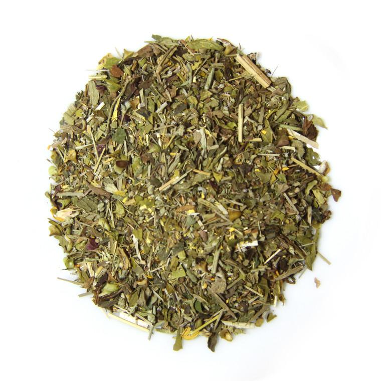 ORGANIC HAPPY TUMMY TEA   Caffeine Free Herbal Infusion   Wellness Tea Collection   1 oz. Jar