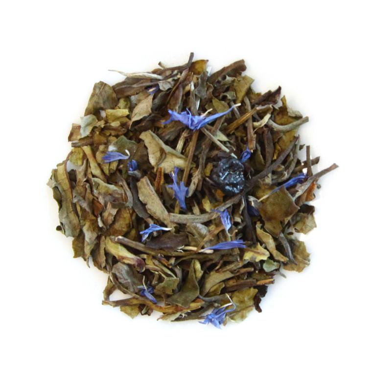 ORGANIC BLUEBERRY POMEGRANATE WHITE TEA | Dessert Tea Collection | 1 oz. Jar