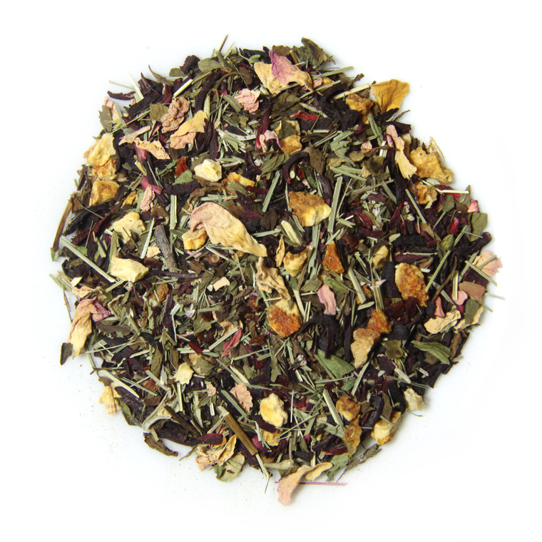 ORGANIC HIBISCUS HIGH TEA | Caffeine Free Herbal Infusion | Wellness Tea Collection | 1.5 oz. Jar