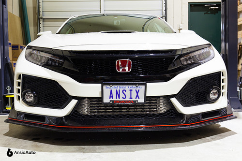 No-drill Front License Plate Relocator - Honda Civic Type R FK8 (2017+)