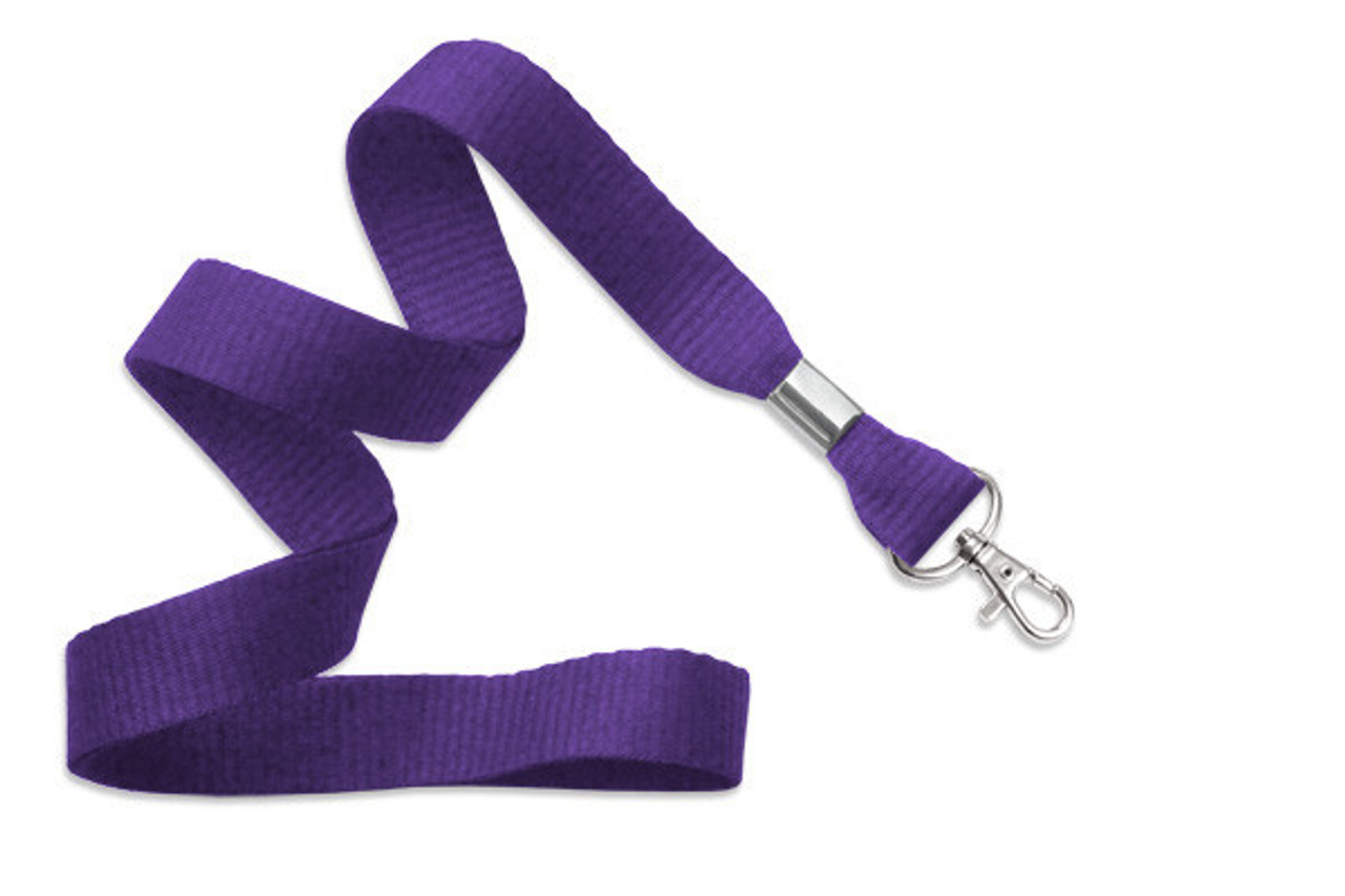 "5/8"" Flat Ribbed Polyester Lanyards"