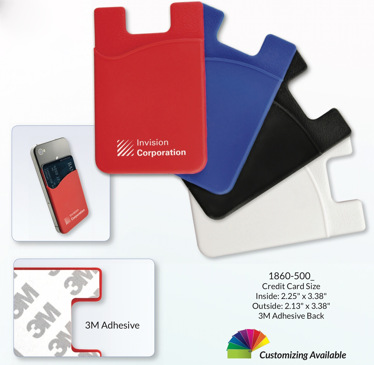 Adhesive Silicone Wallets