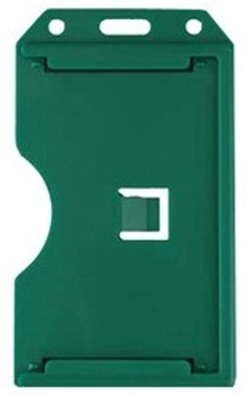 Vertical 2-Sided Open-Face Rigid 3-Card Holder