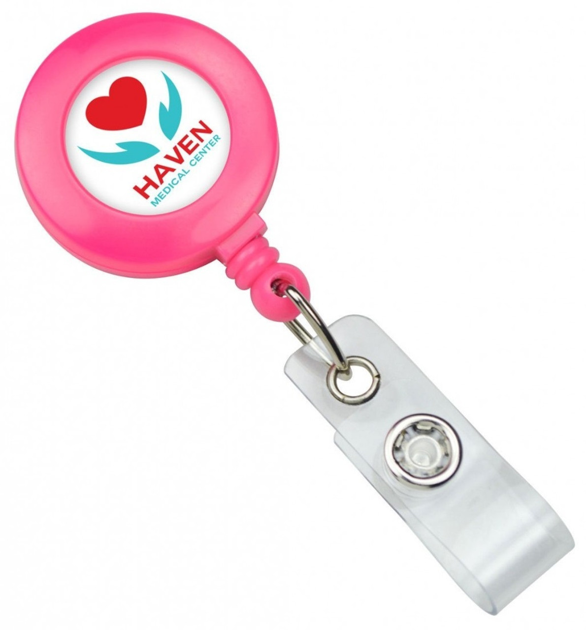 Neon Badge Reel with Slide Clip and Vinyl strap