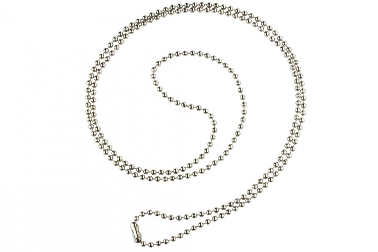 Nickel-Plated Steel Ball Chain with Connector