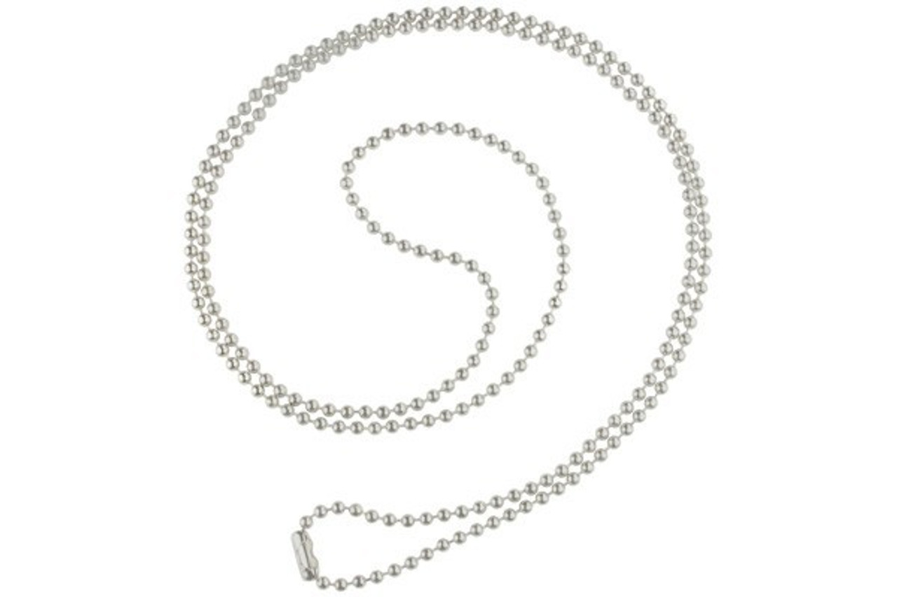 Plastic Ball Chain with Nickel-Plated Connector