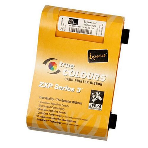 800033-840 Zebra ZXP Series YMCKO Color Ribbon, 200 images