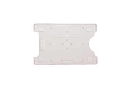 "Rigid Plastic Vertical-Horizontal Card Holder with Slot and Chain Holes 2.13"" x 3.38"" (50/pk)"