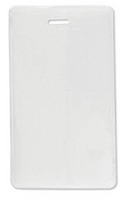 "1840-5055 Vinyl Vertical Proximity Card Holder with Frosted Back 2.31"" x 3.8"" (100/pk)"