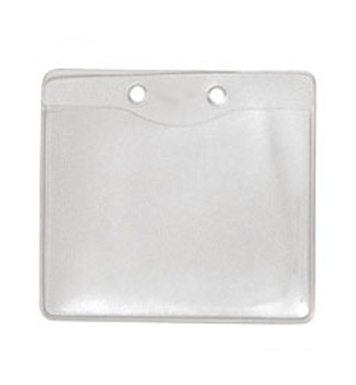"""Clear Vinyl Horizontal Holder with Two Attachment Holes 3.88"""" x 3"""" (100/pk)"""