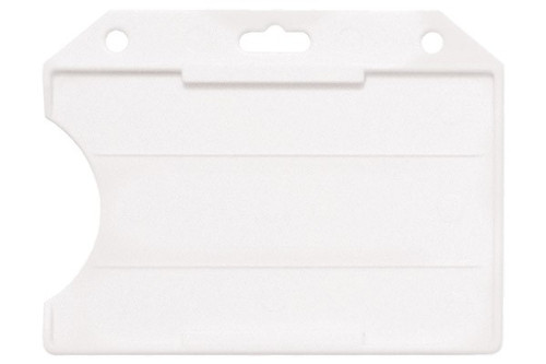 Frosted Rigid Plastic Horizontal Open-Face Card Holder (50/pk)