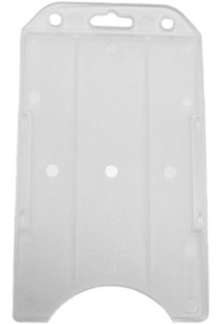 Frosted Rigid Plastic Vertical Open-Face Card Holder (50/pk)