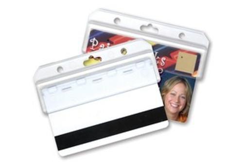Frosted Rigid Plastic Horizontal Half Card Holder (50/pk)