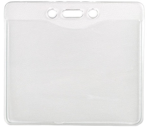 """1815-1400 Clear Vinyl Horizontal Badge Holder with Slot and Chain Holes 4"""" x 3.17"""" (100/pk)"""