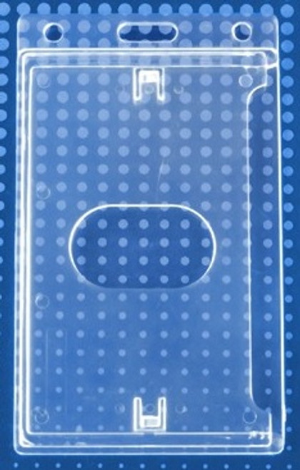Economy Crystal Clear Vertical Side-Load Card Dispenser (50/pk)