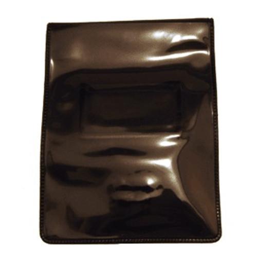 "Black Vinyl Vertical Magnetic Badge Holder with Short Flap 2.75"" x 3.88"" (50/pk)"