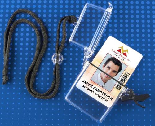 "Rigid Plastic Multi-Card Water-Resistant Holder, 2.38"" x 3.75"" (50/pk)"