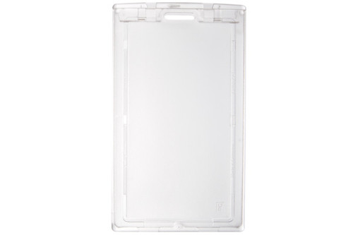 "1840-6630 Clear Plastic Vertical Locking Card Holder, 2.28"" x 3.8"" (50/pk)"