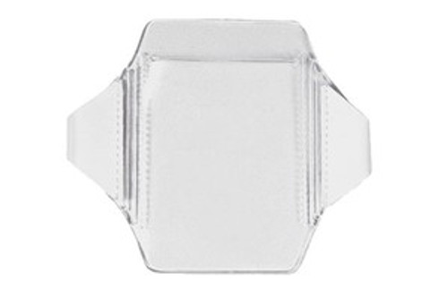 "1840-7010 Clear Vinyl Vertical Arm Band Badge Holder, 2.62"" x 3.62"" (100/pk)"