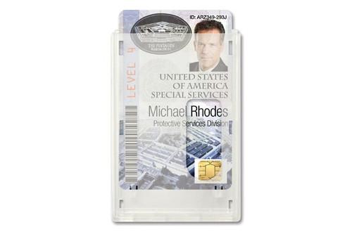 "1840-6560 Rigid Wear™ Vertical 2-Card Badge Holder with Slot, 2.38"" x 3.5"" (50/pk)"